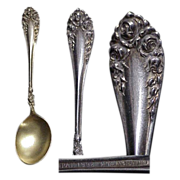 Hot Chocolate Sterling Silver Spoon by Wallace 1888 Rose Pattern