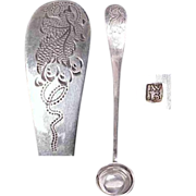 European Silver Mustard Ladle