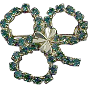 Classy Green & Gold Clover Costume  Pin