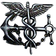 Sterling Silver Navy Medical Pin