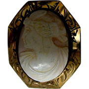 Carved Coral (Angel-skin ) Cameo