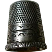 Antique Sterling Thimble Size 8