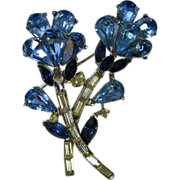 Floral Rhinestone Pin