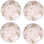 Haviland Floral Pink & Green Plate