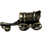 "Sterling Charm "" Covered Wagon """