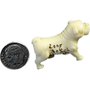 Tiny Molded Plastic Dog Figurine Souvenir of Long Beach WA