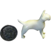Miniature Carved Bone / Ivory Dog Figurine of a Bull Dog / Terrier