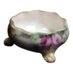 Hand Painted American Belleek Footed Salt