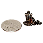 "Sterling Charm For Charm Bracelet "" Man Taking a Siesta """