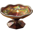 Antique Carnival Glass Miniature Fenton Jelly Compote