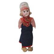 "11 1/2"" Tall Bisque Dutch Girl Doll"