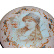 Elegant and Fabulous Footed Victorian Dresser Box w/ Portrait of Little Girl