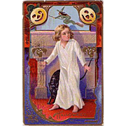Halloween Postcard Mailed in 1910