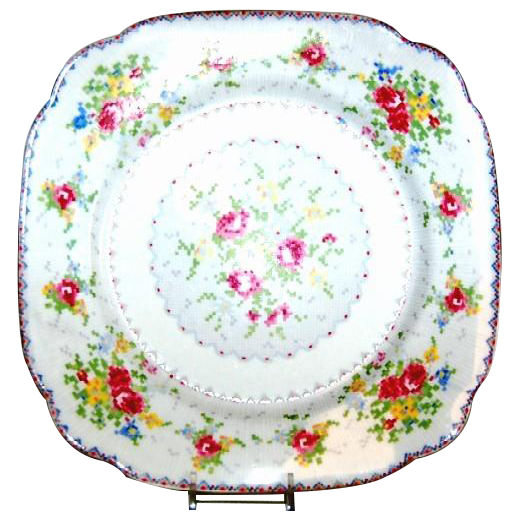 "(4) Royal Albert Petit Point 9 3/4"" Dinner Plates"