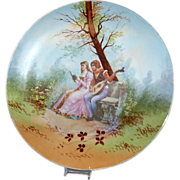 Romantic Couple / Romeo & Juliet 13 1/2&quot; Limoges France Plaque