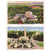 (3) mint postcards from the 1935 America's Exposition