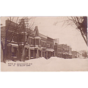 "RPPC Postcard with Photographic Image of ""Main Street Monticello Wisconsin"""