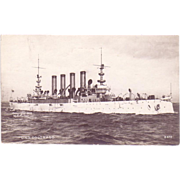 "RPPC Postcard with Photographic Image of ""USS Colorado"""