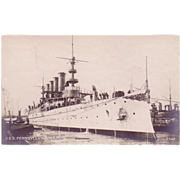 RPPC Postcard with Photographic Image of &quot;USS Pennsylvania&quot;