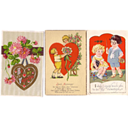 (3) Valentine Postcards for one price