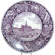 "Purple & White Historical Plate ""Independence Hall"""
