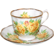 Yellow Roses Royal Albert &quot; Tea Rose &quot; Cup & Saucer