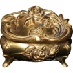 Art Nouveau Floral Roses Jewelry / Ring Box Circa 1910's