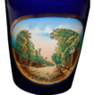 Circa 1900's Cobalt Blue Porcelain Souvenir Tumbler of Ridgeway, Ontario