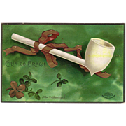 "1907 Postcard of St. Patrick's Day artist signed "" Ellen H.Clapsaddle """