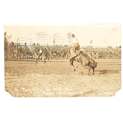 "A Wonderful RPPC Postcard of the ""1914 Pendleton Roundup"""