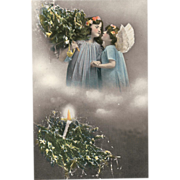 Holiday Postcard of &quot; Two Christmas Angels &quot;