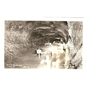 RPPC Photograph of Inside the &quot; Lava Cave, near Bend Oregon&quot;