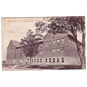 Postcard &quot;High School Grand Haven , Mich.&quot;