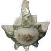 Little Light Green Porcelain German Basket w/ Cupid