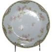 "Very Pretty Fancy Haviland 7 1/2"" Soup Bowl w/ Pink Wild Roses"