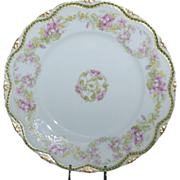 Beautiful Haviland 9&quot; Luncheon Plate w/ Pink Violets Floral pattern