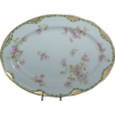 "Very Pretty Fancy Haviland 11 5/8"" Platter w/ Pink Wild Roses"