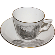 Early 1890's Souvenir Cup & Saucer of &quot; Portland Oregon &quot;
