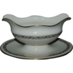 Mayfair by Lenox Porcelain China Gravy Boat w/ Attached Underplate