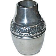 Small Silverplated Danish Design Cabinet Vase