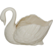 Cream Lenox Nut / Candy Swan Dish & Green Mark
