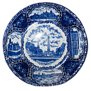 Blue & White Souvenir Historical Plate of &quot;Baltimore MD.&quot;