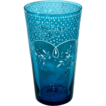 European Victorian Tumbler in Beautiful Sapphire Blue with White Enameling
