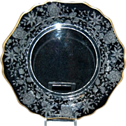 Cambridge Glass Wildflower 7 1/2&quot; Salad / Dessert Plate w/ Gold Trim