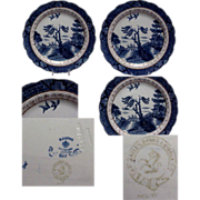 Booths Blue & White Willow Ware 8 1/4&quot; Plate