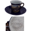 Wheelock Souvenir of Summit House Pikes Peak, Colorado Demitasse Cobalt Blue Cup & Saucer