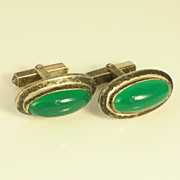 Pair of Modern Design Cuff Links Sterling Silver Denmark 1960s