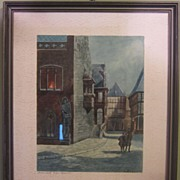 SALE Watercolor Painting Halberstadt by Kuhnert