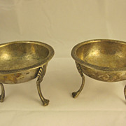 Pair of Early Empire Silver Salt Cellars Italy 19th Century