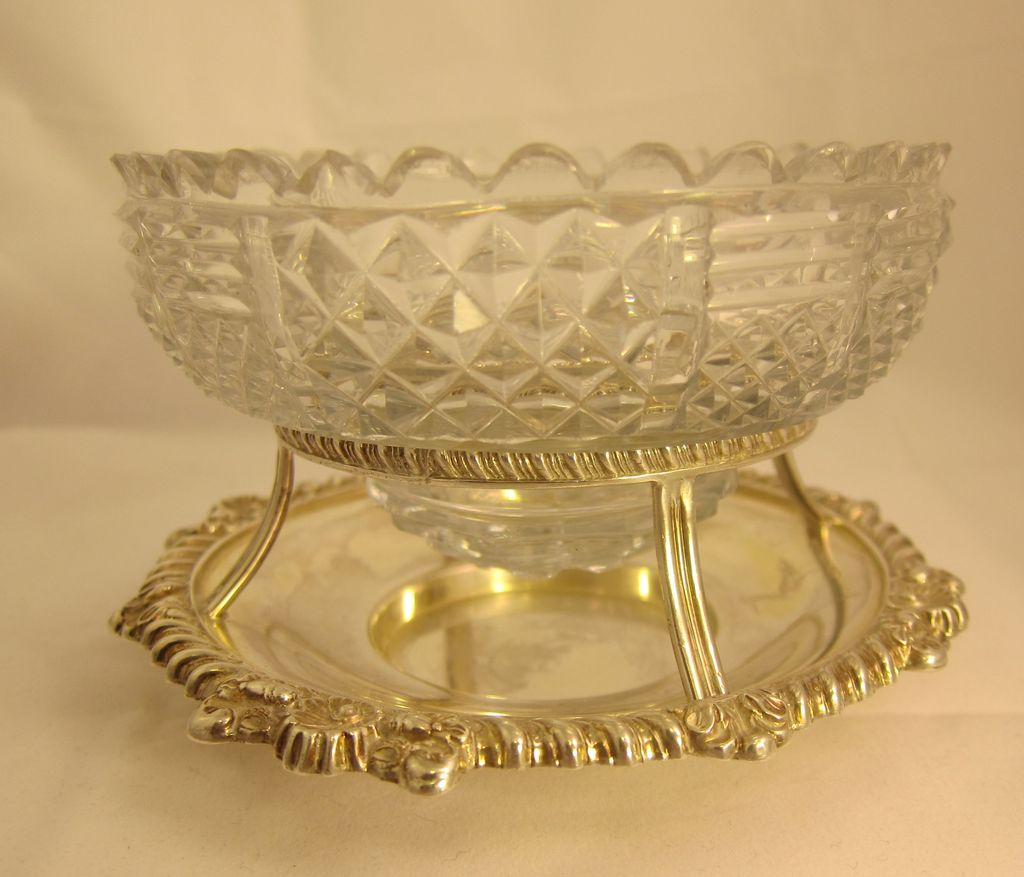 Sterling Silver Bonbon Candy Dish Sheffield 1832
